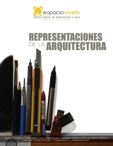 Sexta publicación Representaciones de la Arquitectura